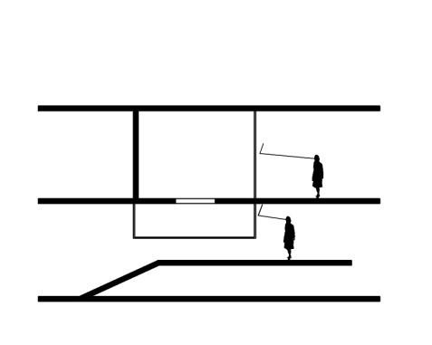 تصویر شماره 6- ویترین ها به صورت نمایش در کف و سقف همزمان